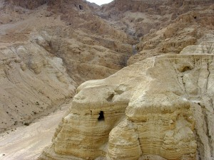 Qumran in the West Bank, Middle East. Effi Schweizer. Wikipedia. Public Domain.